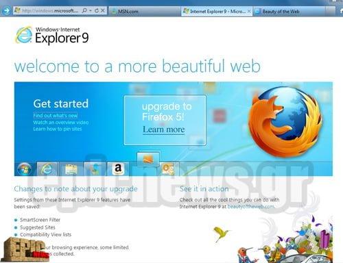 Internet Explorer 9 update